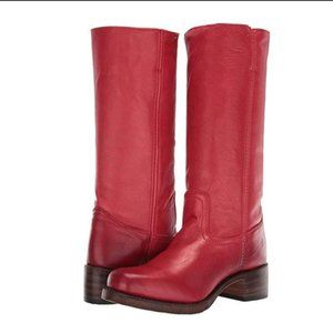 FRYE Campus Burnt Red Boots
